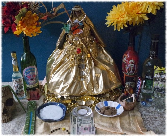 Setting Up a Santa Muerte Altar
